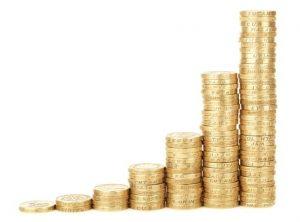 pinigų grafikas